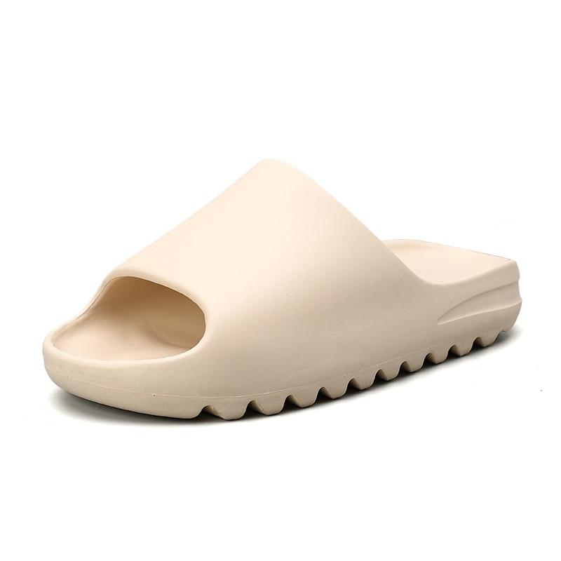 Шлепанцы мужские летние, мягкие сланцы, пляжная обувь, открытый носок, однотонные, сланцы|Тапочки| | АлиЭкспресс
