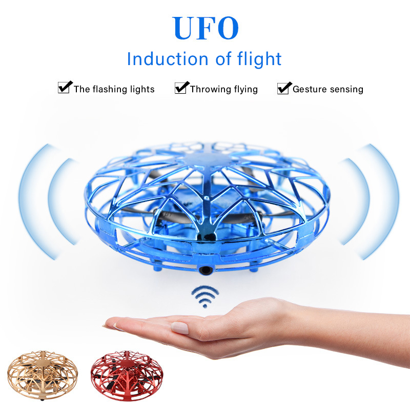 Mini Drone UFO Hand Operated RC Helicopter Quadrocopter Dron Infrared Induction Aircraft Flying Ball Toys For Kids Gifts