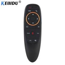 Kebidu G10S G20S G30S Gyro เสียงรีโมทคอนโทรล IR การเรียนรู้ 2.4G Wireless Fly Air Mouse สำหรับ Android TV Box สำหรับ MINI H96 MAX X99