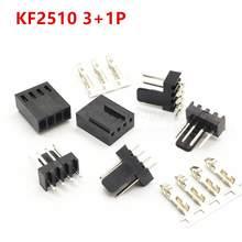 2510 2,54 мм KF2510 3 + 1P, штекер, гнездовой разъем, прямой, прямоугольный, штырьковый разъем, 2,54 мм, 4Pin, бесплатная доставка
