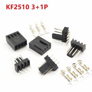 2510 2.54 mm KF2510 3+1P KF2510-4AW male female housing connector straight right angle Pin header 2.54mm 4pin free shipping