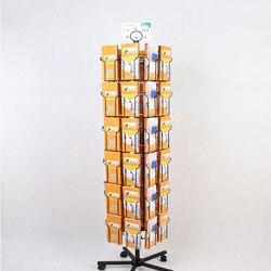 Broszura danych pocztówka obrotowy stojak jednokolorowy składany magazyn półka do przechowywania lądowania na