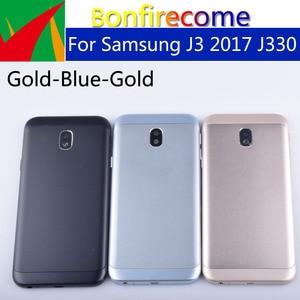 Image 2 - Originele Voor Samsung Galaxy J3 2017 J330 J330F SM J330F Behuizing Batterij Cover Back Cover Case Deur Achter Chassis Shell
