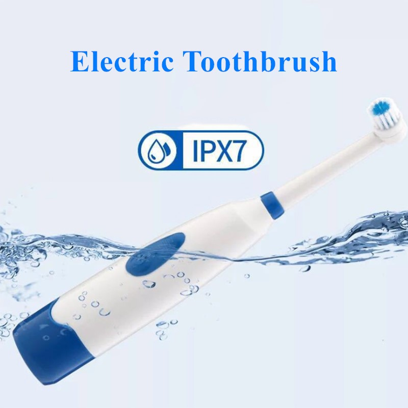1set Electric Toothbrush 2 Brush Heads for Children with Care Rotation Vitality Cartoon Oral Health Soft Tooth Brush for Kids image