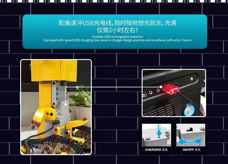 MOULD KING  Technic Crawler robot Walking Building Block 5