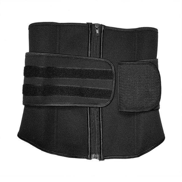 S-6XL Abdominal Belt 7 Steel Boned High Compression Zip Neoprene Waist Cincher Sauna Corset Sweat Waist Trainer Body Shaper 4