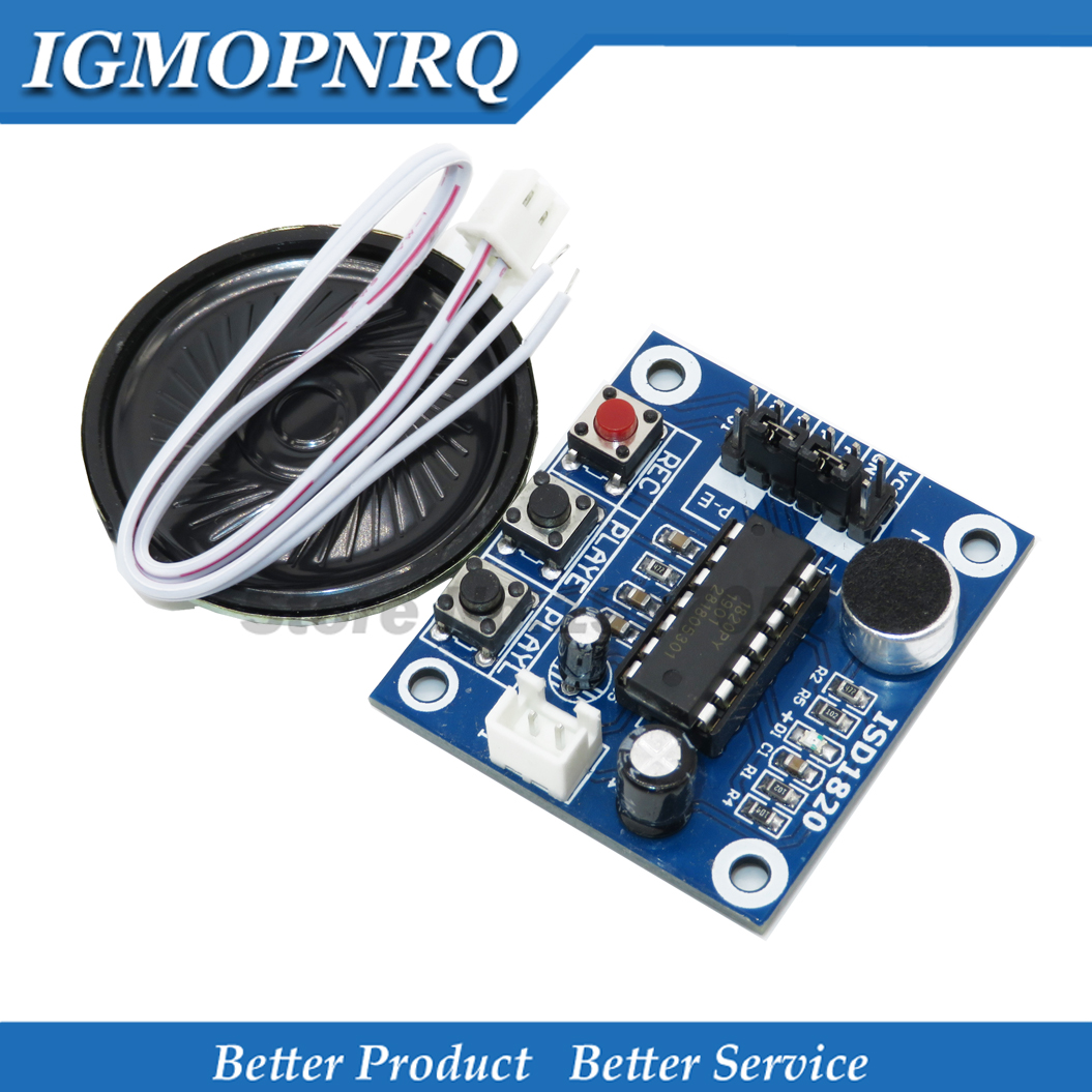 Loudspeaker ISD1820 Sound Voice Recording Playback Module  Sound Audio Telediphone Control Drive Board With Microphones 3V 5V