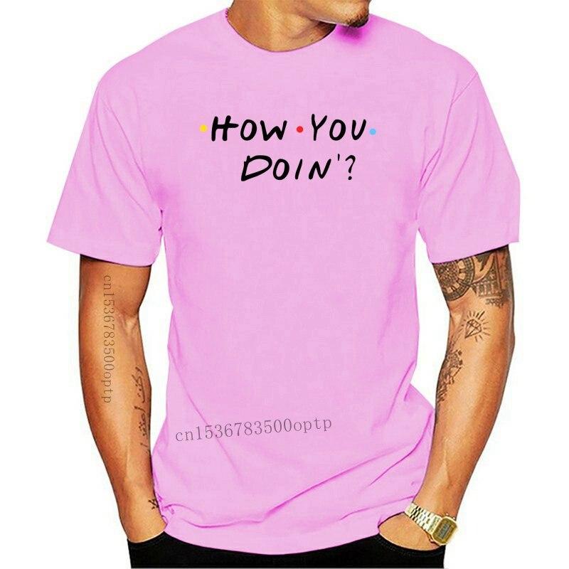 Como você está fazendo? Camiseta de impressão do presente da ideia do joey da tevê da mostra do slogan dos amigos engraçados camiseta, camiseta do hip hop, t da chegada nova|Camisetas|   -