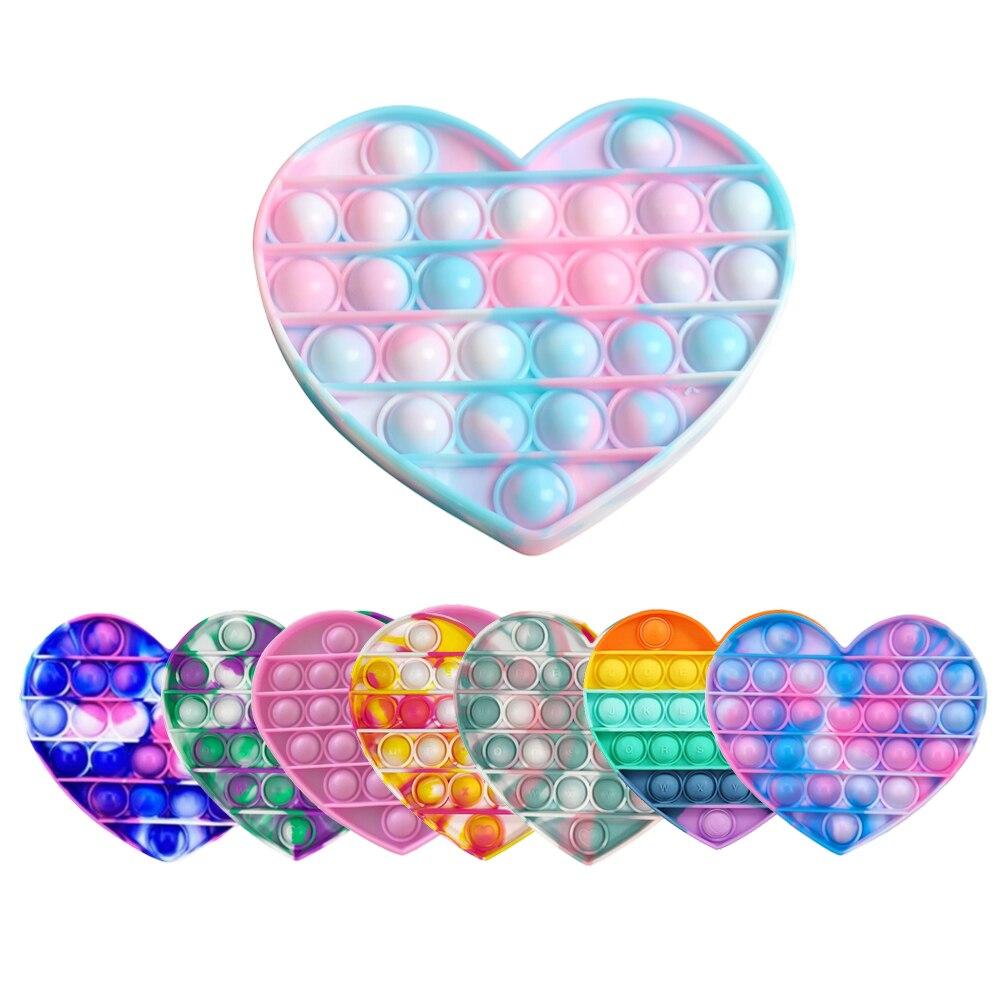 Сердце пуш-ап пузырь поп Непоседа сенсорная игрушка для Autisim особых потребностей анти-стресс игра игрушка для снятия стресса, мягкими вытал...