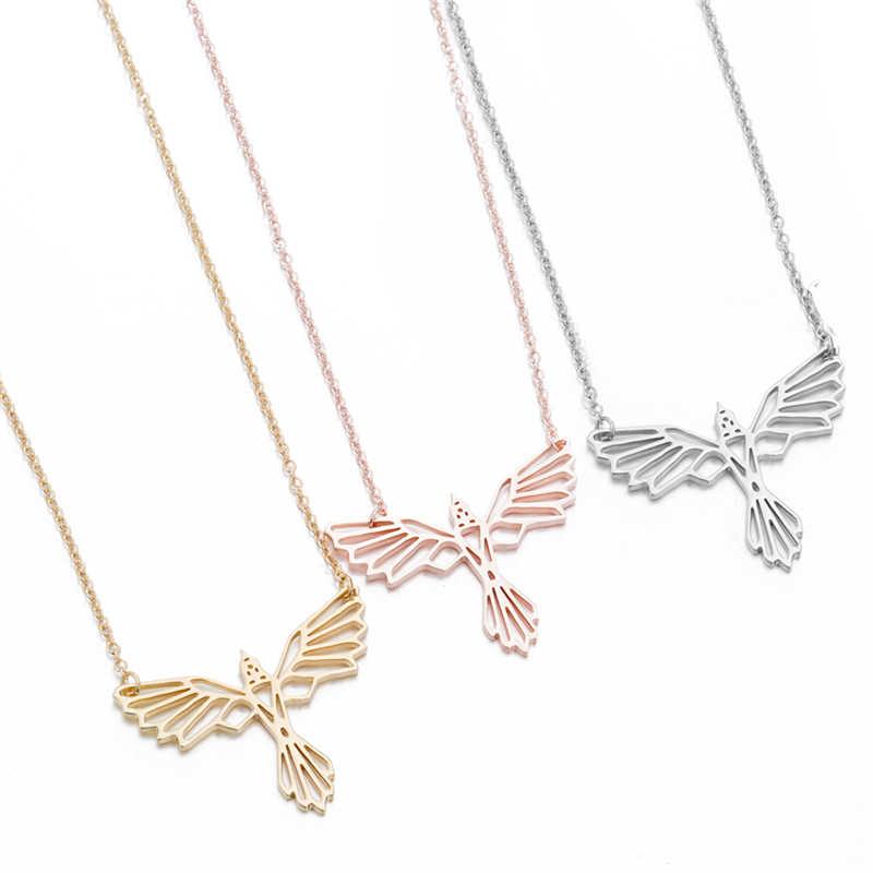 Vogel Schmuck Anhänger Halsketten Frauen Stahl Lange Kette Halskette Schmuck Collier Femme Phoenix Winter pullover zubehör