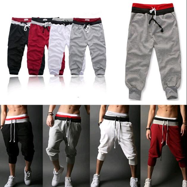 Dance Gym Men's Hot Casual Shorts Pants Running Training New Sport Trousers Jogging Capri Pant Men's Pants Solid Frenulum