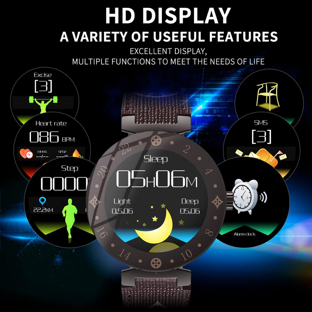 Image 5 - Fashion Noble Women Smart Watch LV88S For Girl gift fitness  Ladies leather Watches Waterproof Smartwatch Woman Clock Android  IOSSmart Watches