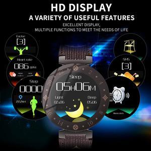 Image 5 - موضة نوبل المرأة ساعة ذكية LV88S لفتاة هدية اللياقة البدنية السيدات ساعات جلد مقاوم للماء ساعة ذكية امرأة ساعة أندرويد IOS