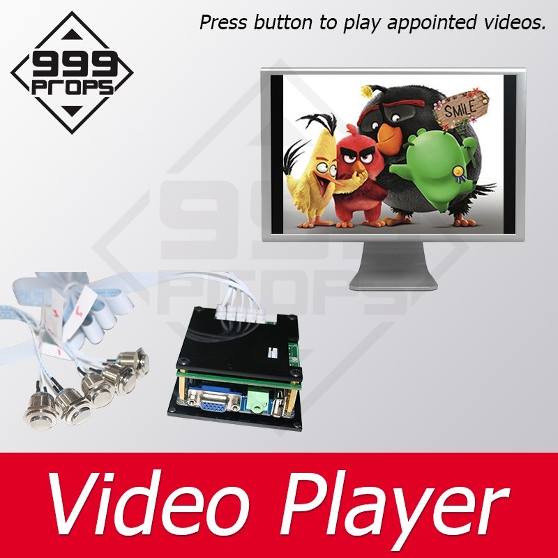 999 PROPS Video Player Prop Room Escape Press Each Button To Get The Video Clue Chamber Room Game For Adventure