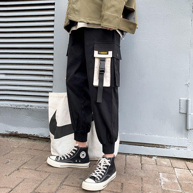 Autumn New Overalls Men Fashion Solid Color Casual Multi-pocket Overalls Man Streetwear Wild Hip-hop Loose Joggers Sweatpants