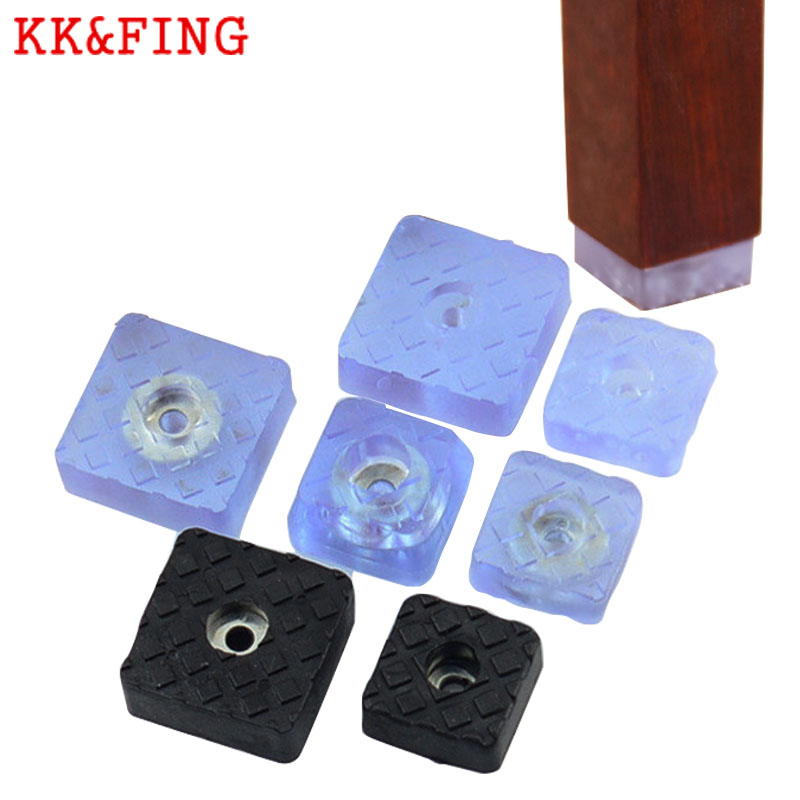 KK&FING 10PCS Silicone Table Chair Leg Non-slip Mute Mat Floor Protection Furniture Cups Furniture Legs Rubber Feet  Hardware