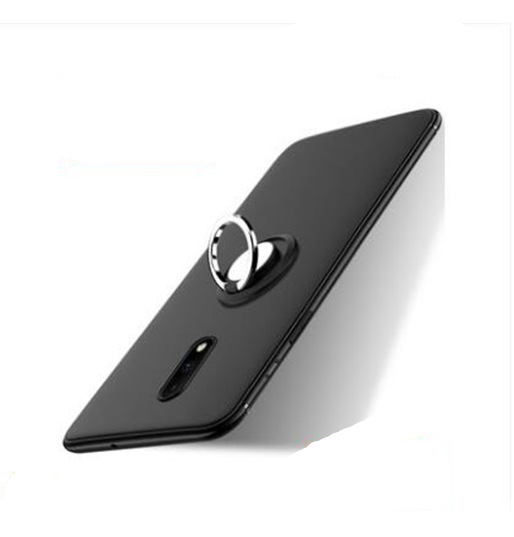 For General Mobile 4G Silicone Case Luxury Magnetic Ring Holder Bracket Phone Cases For General Mobile GM5 Case Capa image
