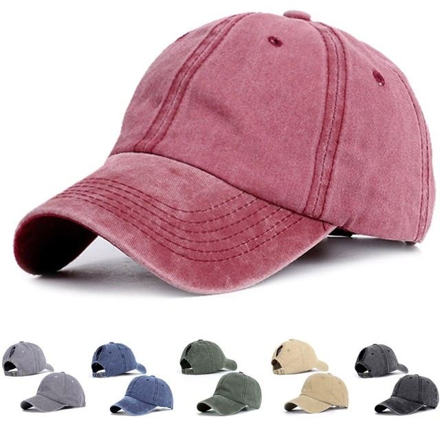 Ponytail Messy Buns Trucker Plain Baseball Visor Cap Unisex Hat  Plain Dad Hat Unisex Adjustable Outdoor Hip-Hop Fashion Cap#T2 1
