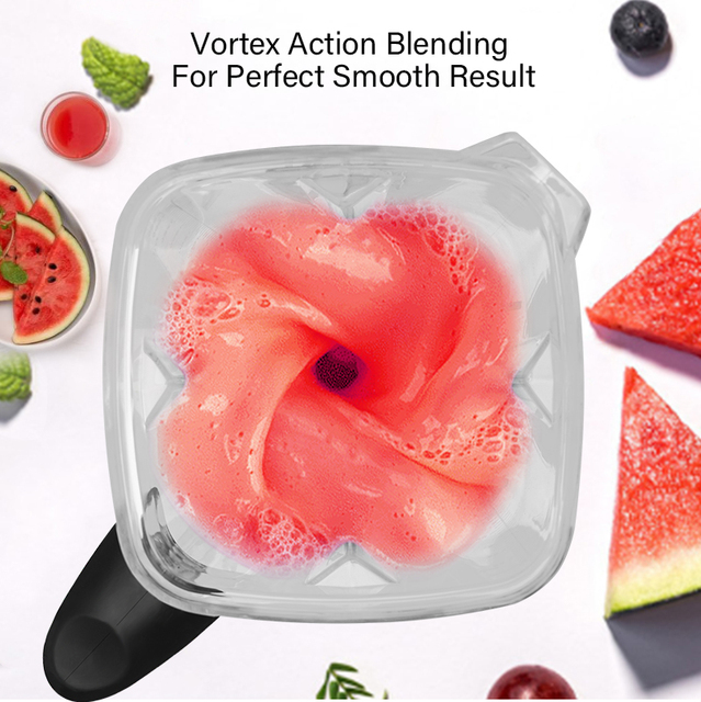 3HP 2200W Heavy Duty Commercial Grade Automatic Timer Blender Mixer Juicer Fruit Food Processor Ice Smoothies BPA Free 2L Jar Appliances Consumer Electronics