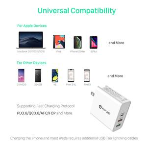 Image 4 - 60W TYPE C USB C Wall Charger, PD30W QC3.0 Charger For S10 USB C Laptops MacBook Pro/Air iPad Pro iPhone 11  (and  USB C cable)