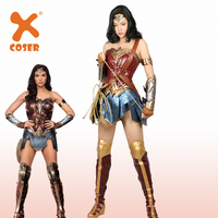 XCOSER Wonder Woman Costume Comic Superhero Cosplay Outfit Sull of Suit Carnival Show Halloween Costume for Women Adult Size