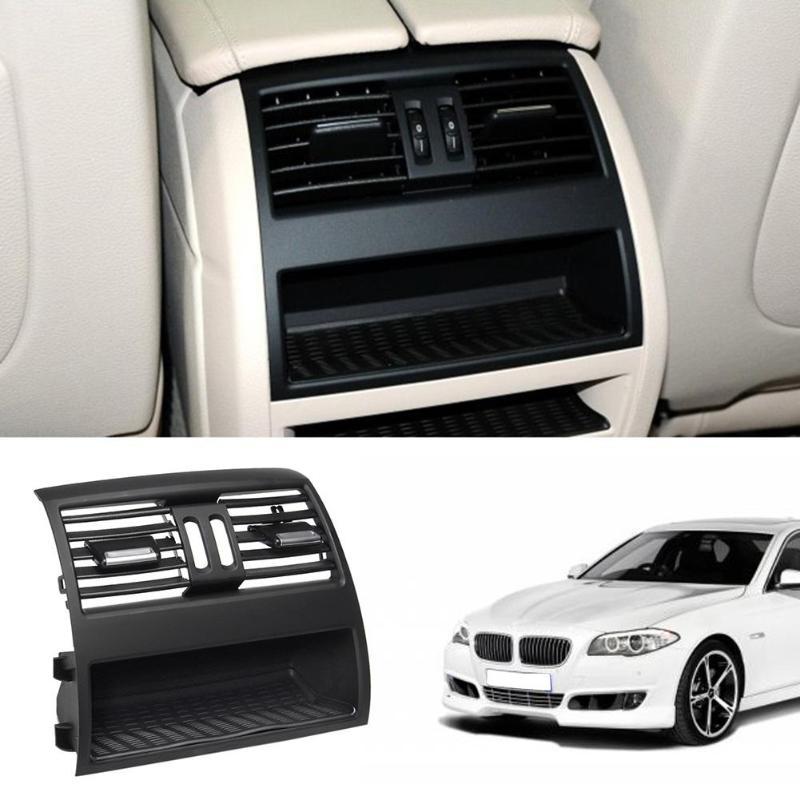 الخلفي مركز وحدة التحكم غطاء فتحة التهوية لسيارات BMW F10 520D تنفيس الهواء النقي منفذ فتحات مصبغة لسيارات BMW 530d F10 F18 525d 535d 5 Series