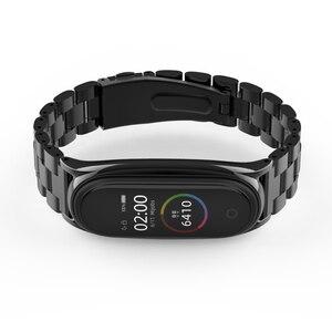 Image 2 - ミバンド5ストラップ金属リストバンドブレスレットmi曲げ4ベルトxiaomi correas miband 3 pulseira腕時計スマートアクセサリー