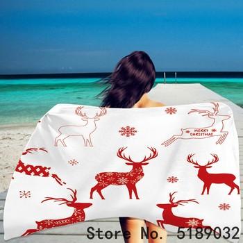 Letni ręcznik plażowy Cartoon Deer Animals ręcznik kąpielowy kwiat płatek śniegu ręcznik plażowy z nadrukiem 3D drukuj ręcznik wakacyjny ręcznik do twarzy dla dziecka tanie i dobre opinie CN (pochodzenie) Beach Towel Bez wzorków Z dzianiny Rectangle 480g St-01 Szybkoschnący można prać w pralce 11 s-15 s