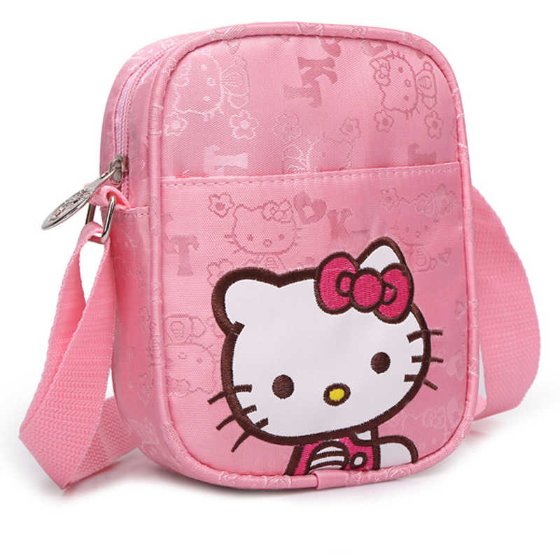Hello Kitty Pink Cute Casual Shoulder Bag Girl Fashion Waterproof Kids Bags Flaps Coins bag
