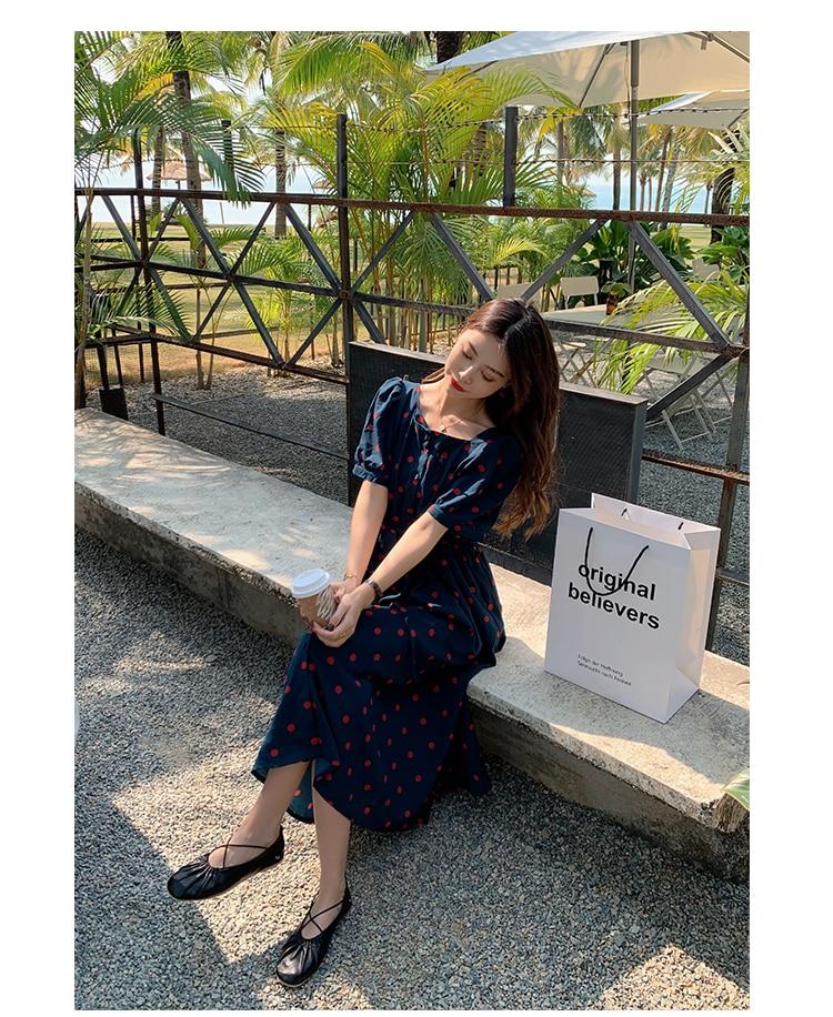 8035# Summer Korean Fashion Maternity Long Dress Elegant A Line Loose Clothes for Pregnant Women Slim Waist Pregnancy Dress