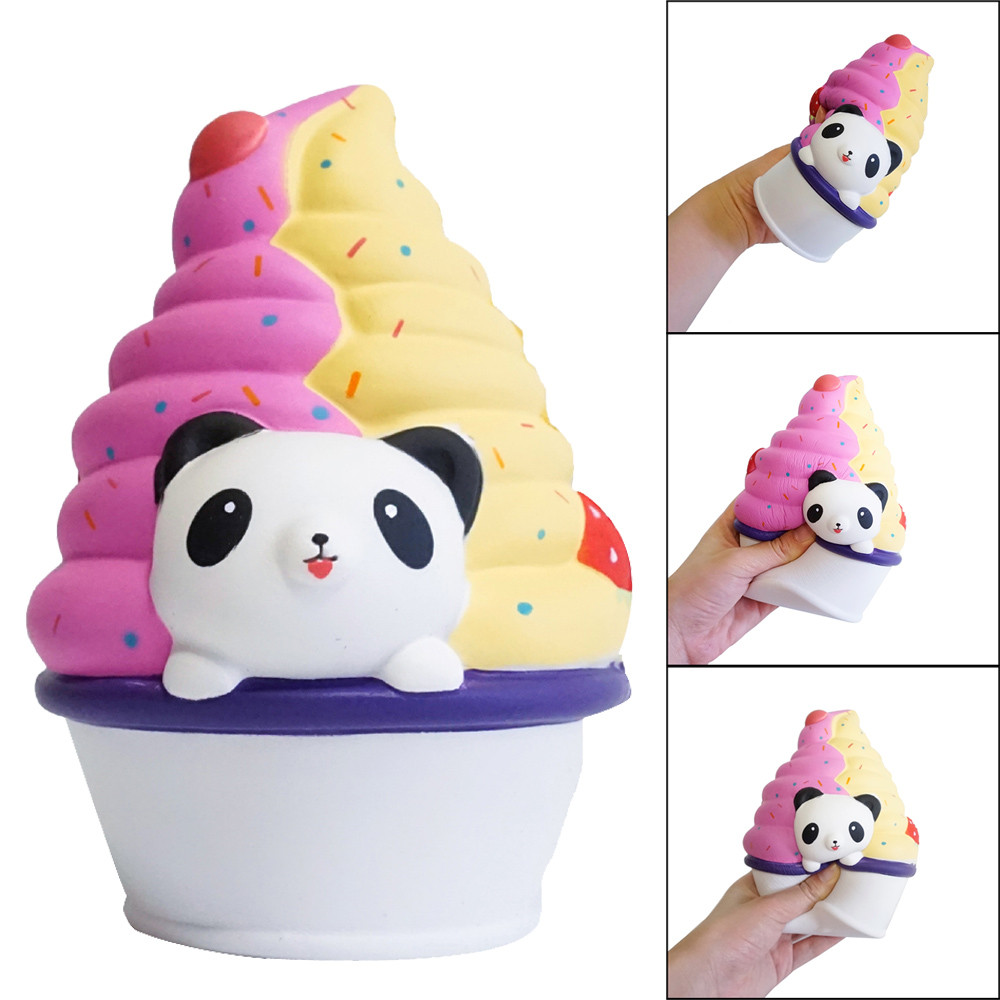1PC New Arrival Super Cute Small Toys Squishy Squishies Panda Ice Cream Scented Cream Slow Rising Squeeze Stress Reliever Toys