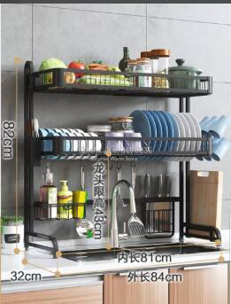 Multi-layers Stainless Steel Sink Rack Dish Rack Drain Rack Household  Kitchen Storage Rack Tableware Drying Stand Rack