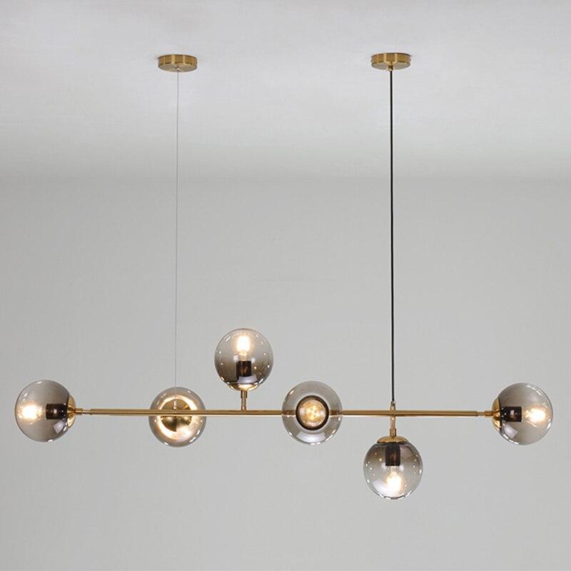 LED Pendant Light Restaurant Hanging Lamp Modern Crystal Hang Lamp For Bedroom Living Room E27 Indoor Lighting Pendant Lights