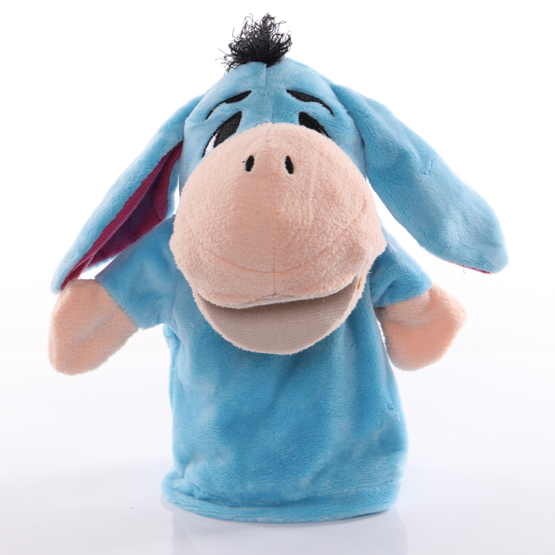 1pcs 25cm Hand Puppet Donkey Animal Plush Toys Baby Educational Hand Puppets Story Pretend Playing Dolls for Kids Children Gifts