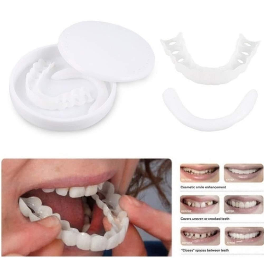 Hot Whitening Snap Perfect Smile Teeth Fake Tooth Cover On Smile Instant Teeth Cosmetic Denture Care For Upper One Size Fits