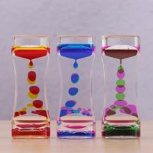 Liquid Timer visual sensory toy autism sedation special Hourglasses Liquid Motion needs Oil Floating Glass Visual Timer