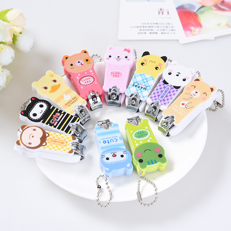 Creative Cute Cartoon Nail Scissors Panda Nail Clippers Frog Nail Clippers Manufacturers Wholesale Sleeves