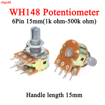 1x Stereo dual axis amplifier 6pin 15mm dual potentiometer, wh148 b2k b5k b10k b20k b50k b100k b500k 1k 2k 5k 10k 50k 100k 500k image