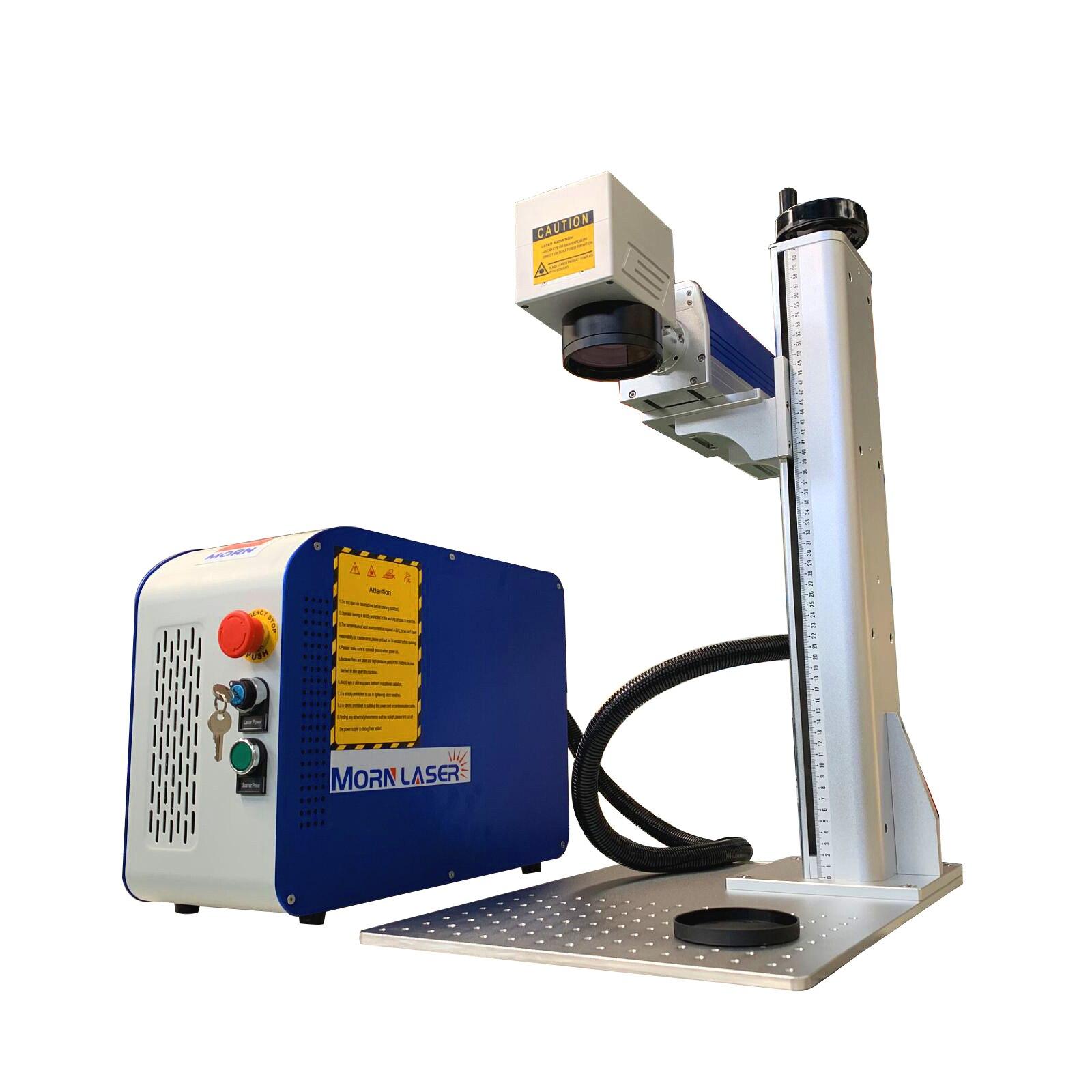 30W mini laser CNC machine de marquage en acier inoxydable bijoux plaque signalétique CNC routeur traceur de coupe pour le métal