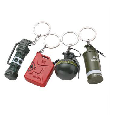 2019 Women And Men Survival Escaping Dizzy Grenade Smoke Bombs Debris Hand Gun Weapon Toy Bucket Keychain Sent To Friend