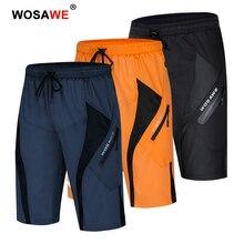Wosawe downhill ciclo shorts solto ajuste esportes ao ar livre mtb dos homens de bicicleta montanha shorts ciclismo calças curtas
