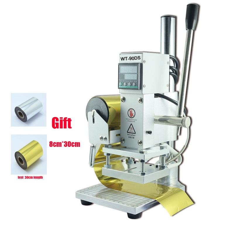 Hot Stamping Machine 10*13CM Stamping /indentation Machine Leather Wood Paper Marking Press Machine Embossing Machine 110V/220V