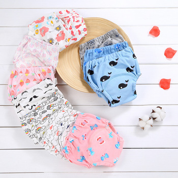 3pcs/set Gauze Cotton Baby Cotton Training Pants Panties Cloth Diapers Reusable Child Nappies Diaper Baby Underwear Washable baby cloth diaper washable diapers reusable baby nappies zeechi wholesale baby cotton couvre couche lavable