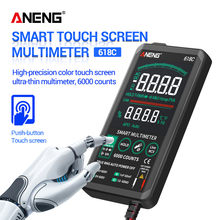 ANENG 618C Multimetro Digitale Touch Screen Intelligente DC Analogico Bar Vero RMS Tester 6000 conti Transistor Condensatore PCI Tester Meter(China)