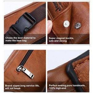Image 5 - Jeepbuluo homens cintura saco pacote casual funcional dinheiro telefone cinto masculino unisex sling saco para cinto de couro hip saco peito