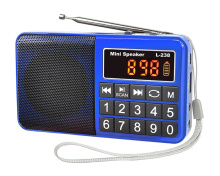 L238 SW/AM/FM multi-band Speaker Portable Digital Radio Receiver Stereo Radio with LED Display Radio Support 16GB TF Card Gift xhdata d 808 portable digital radio fm stereo sw mw lw ssb air rds multi band