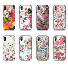 Pretty Colorful Flower Design Painted For Huawei Honor 7X P20 Lite Mate 10 Pro Redmi 5 Note 5A 6 For Galaxy S8 S9 Plus(China)