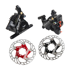 Calipers Rotor Brakes-Set Mechanical-Cable Flat-Mount Road-Hydraulic-Disc 140mm-Discs