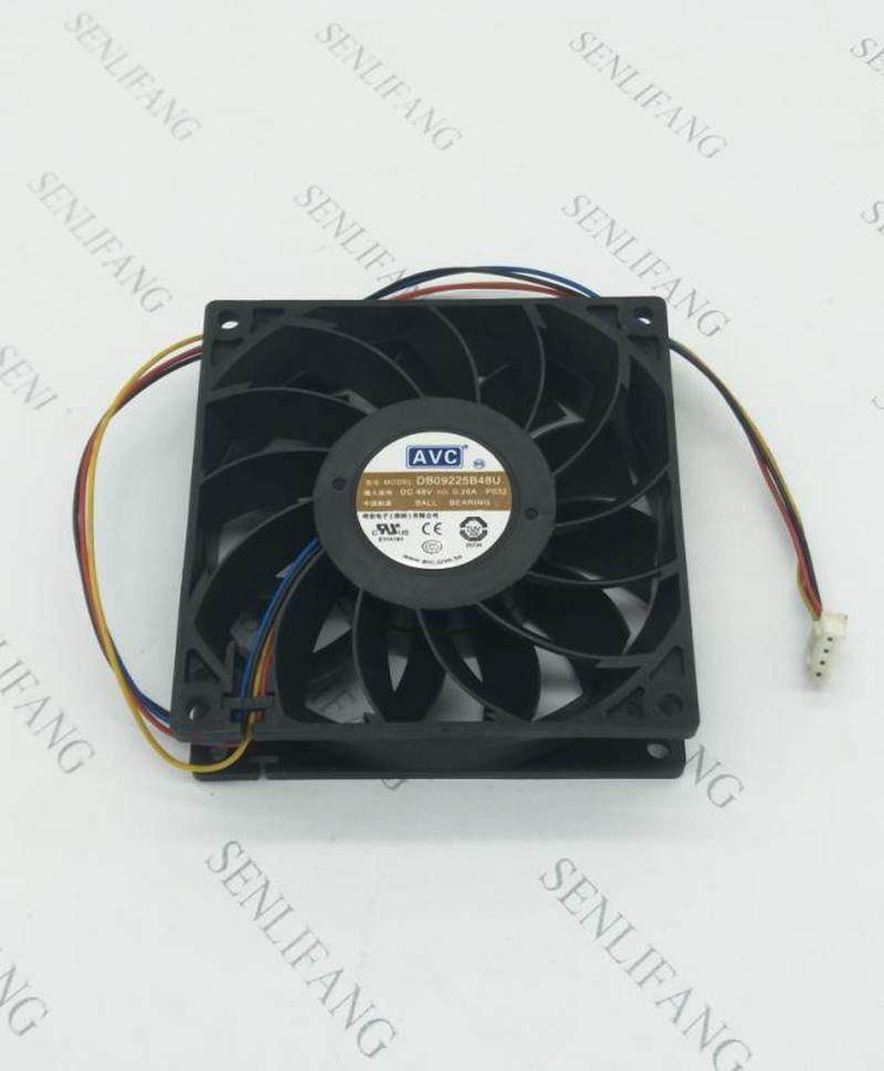 For AVC DB09225B48U DC48V 0.26AFour - Line Static Impeller Double Ball Bearing Cooling Fan