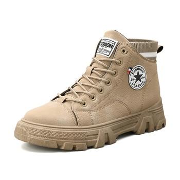 Men High Quality Leather Boots Male Spring Casual Motorcycle Ankle Botas Hombre Men Lace-Up Basic Boots Man Fashion Men Boots zyyzym men boots leather plus size knight boots man lace up men ankle boots brithsh motorcycle boots for men zapatos de hombre